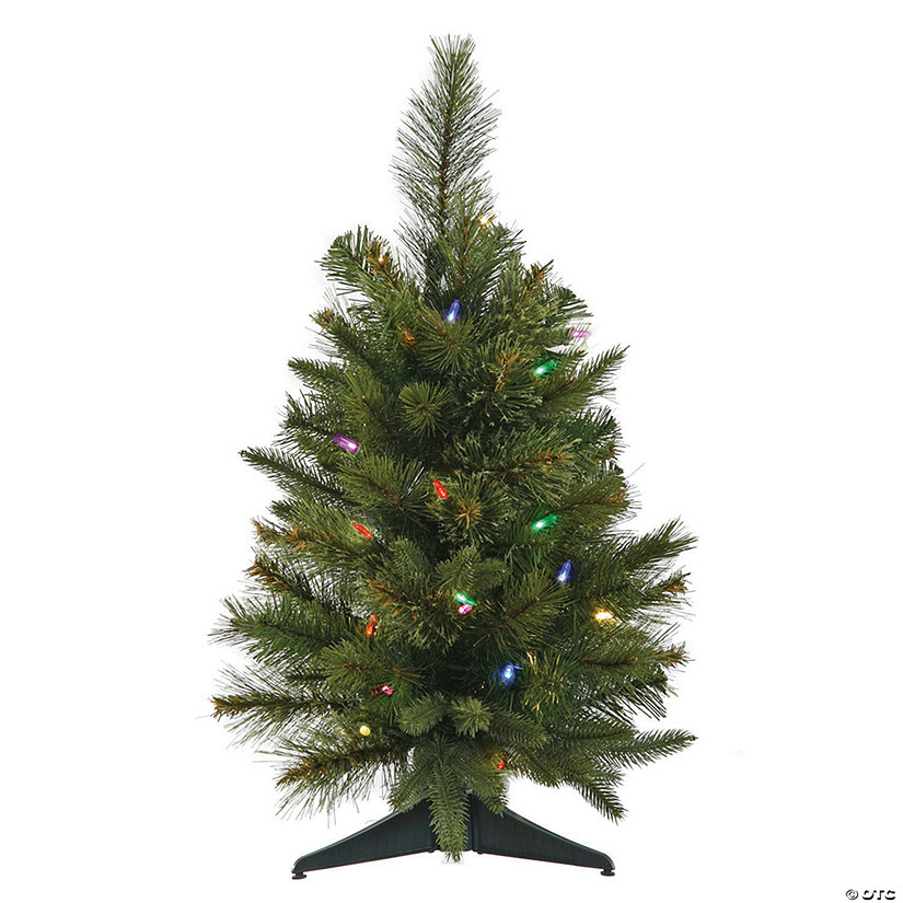 "Vickerman 24"" Cashmere Pine Christmas Tree with Multi-Colored LED Lights Image Thumbnail"