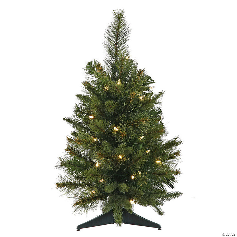 "Vickerman 24"" Cashmere Pine Christmas Tree with Warm White LED Lights Image Thumbnail"