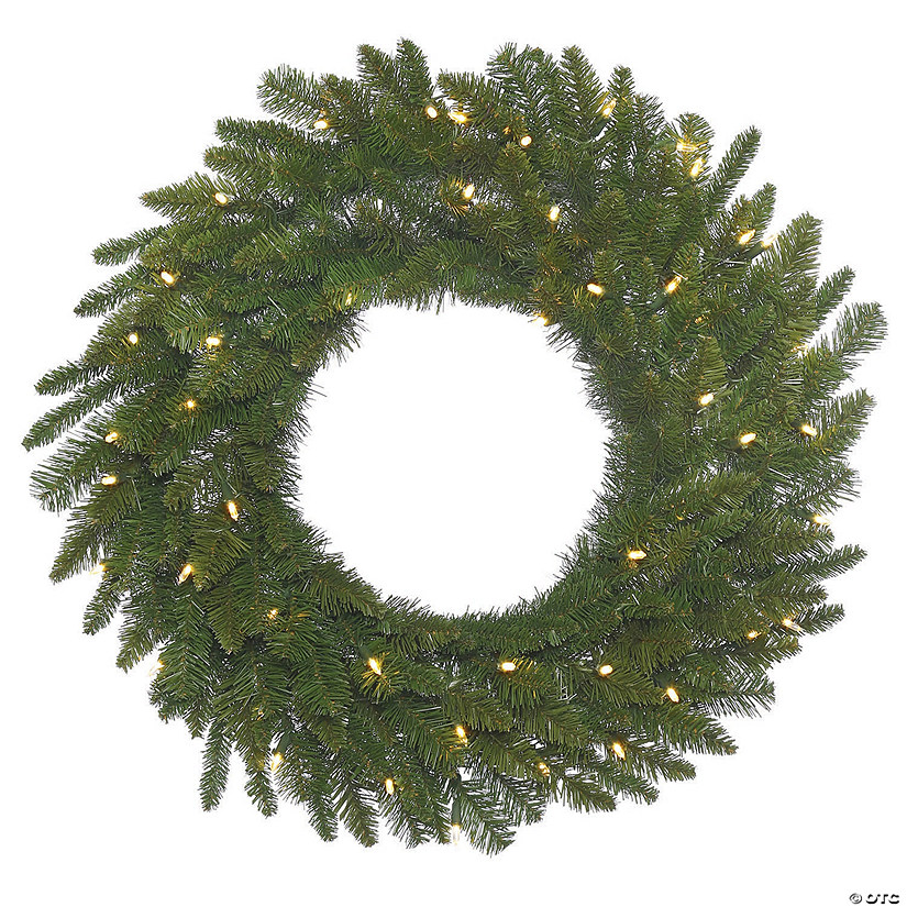 "Vickerman 24"" Durango Spruce Christmas Wreath with Warm White LED Lights Image Thumbnail"