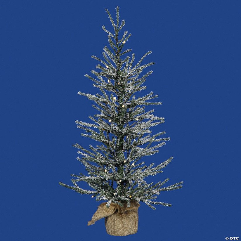 "Vickerman 24"" Frosted Angel Pine Christmas Tree with Warm White LED Lights Image Thumbnail"
