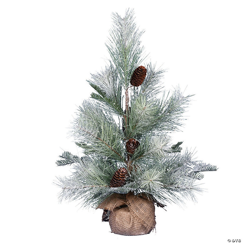 "Vickerman 24"" Frosted Ansell Pine Tree - Unlit Image Thumbnail"