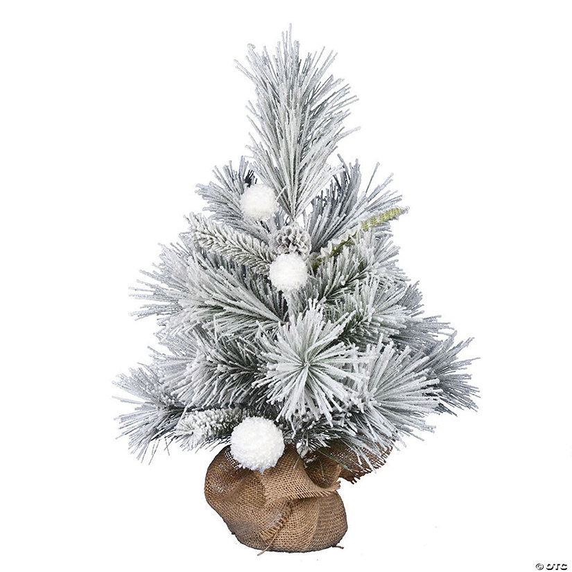 "Vickerman 24"" Frosted Beacon Pine Tree - Unlit Image Thumbnail"