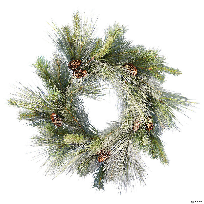 "Vickerman 24"" Frosted Myers Pine Wreath - Unlit Image Thumbnail"