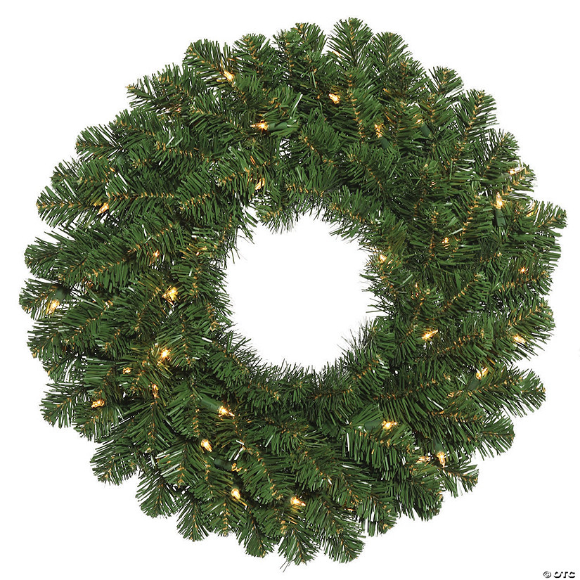 "Vickerman 24"" Oregon Fir Christmas Wreath with Clear Lights Image Thumbnail"
