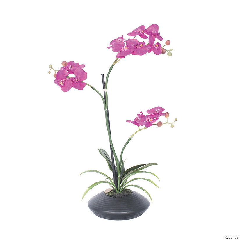 "Vickerman 25"" Artificial Purple Potted Orchid Audio Thumbnail"