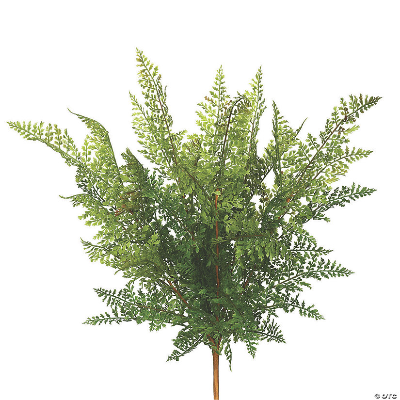 "Vickerman 26"" Artificial Green Fern Bush - 2/pk Audio Thumbnail"