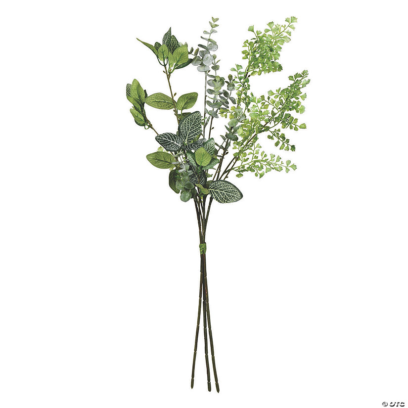 "Vickerman 26"" Cream Mixed Greenery Bundle - 2/pk Audio Thumbnail"