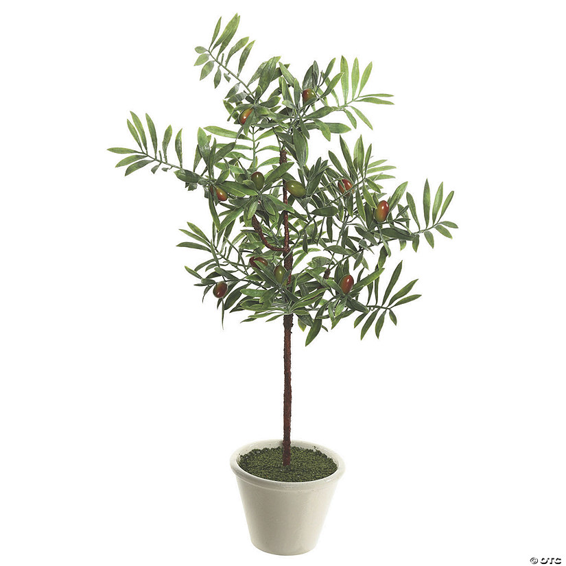"Vickerman 27"" Artificial Green Olive Hill Tree Audio Thumbnail"