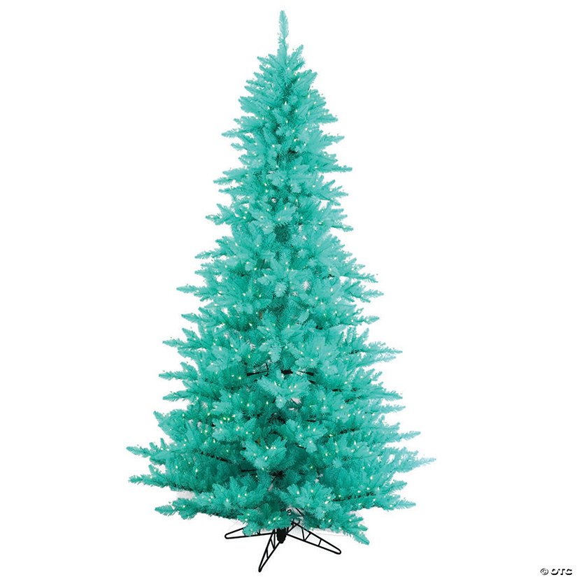 Vickerman 3' Aqua Fir Christmas Tree with Aqua LED Lights Audio Thumbnail