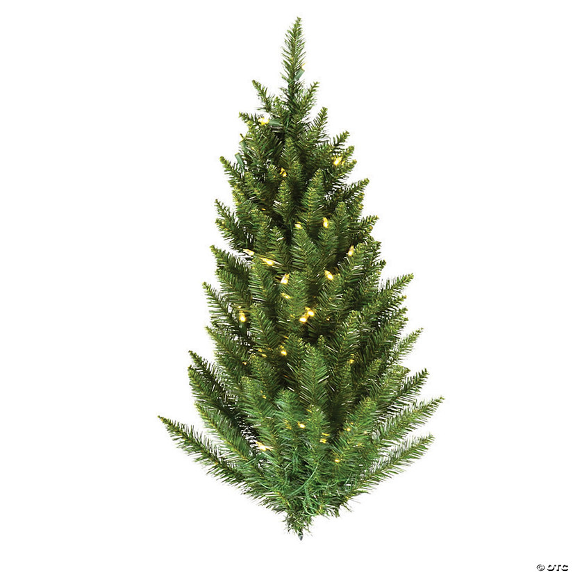 Vickerman 3' Camdon Fir Christmas Wall Tree with Warm White LED Lights Image Thumbnail
