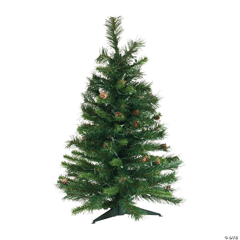 Vickerman 3' Cheyenne Pine Christmas Tree with Clear Lights Image Thumbnail