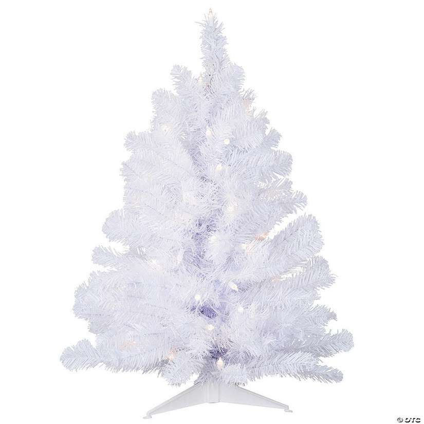 Vickerman 3' Crystal White Spruce Christmas Tree with Clear Lights Image Thumbnail