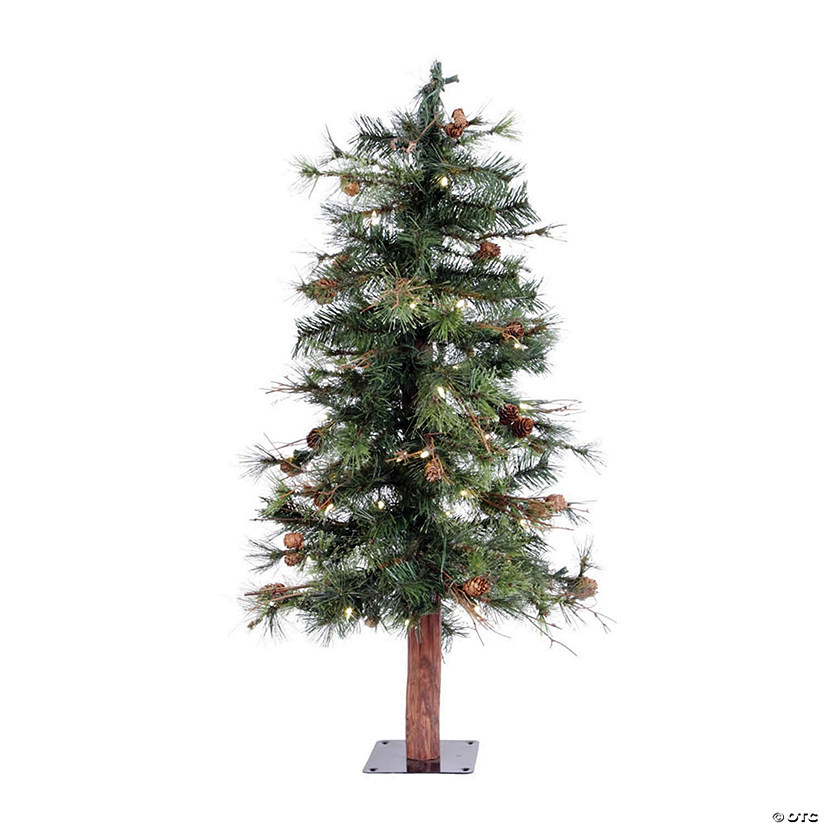 Vickerman 3' Mixed Country Pine Christmas Tree with Warm White LED Lights Image Thumbnail