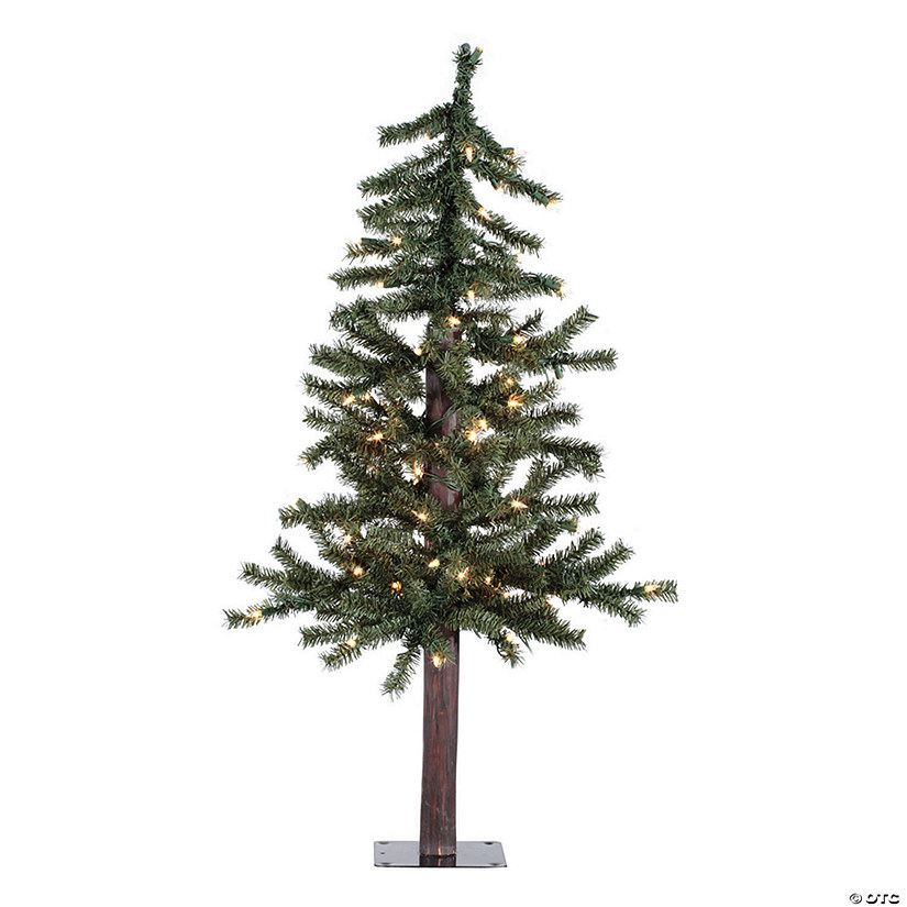 Vickerman 3' Natural Alpine Christmas Tree with Clear Lights Image Thumbnail