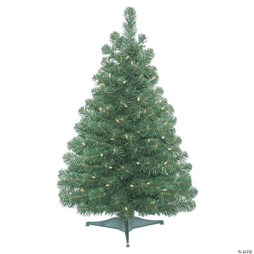 Vickerman 3' Oregon Fir Christmas Tree with Clear Lights Audio Thumbnail