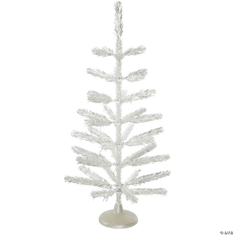 Vickerman 3' Silver Feather Christmas Tree - Unlit Image Thumbnail