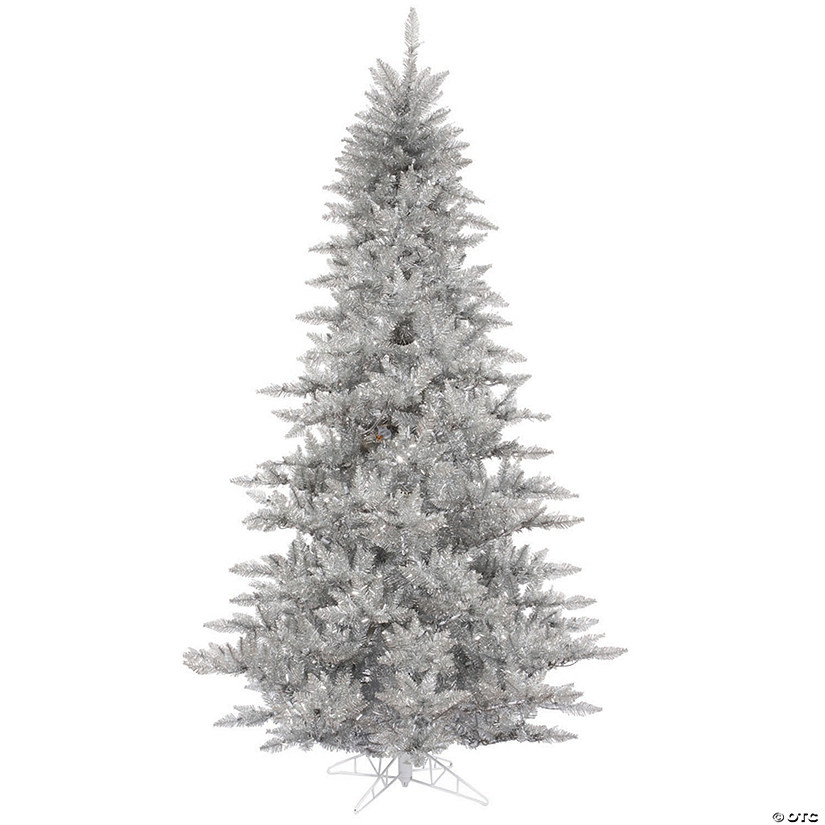 Vickerman 3' Silver Tinsel Fir Christmas Tree - Unlit Image Thumbnail