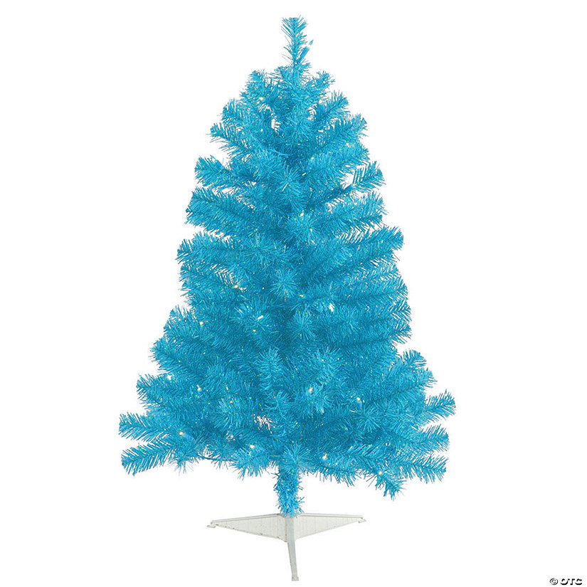 Vickerman 3' Sky Blue Christmas Tree with Teal LED Lights Image Thumbnail