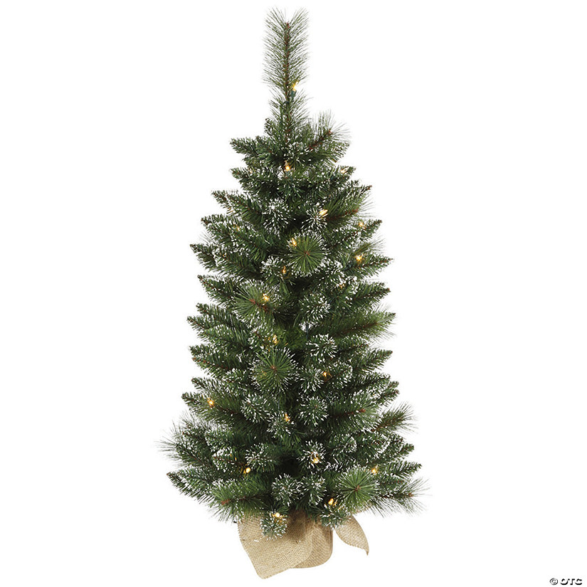 Vickerman 3' Snow Tipped Mixed Pine and Berry Christmas Tree with Clear Lights Image Thumbnail