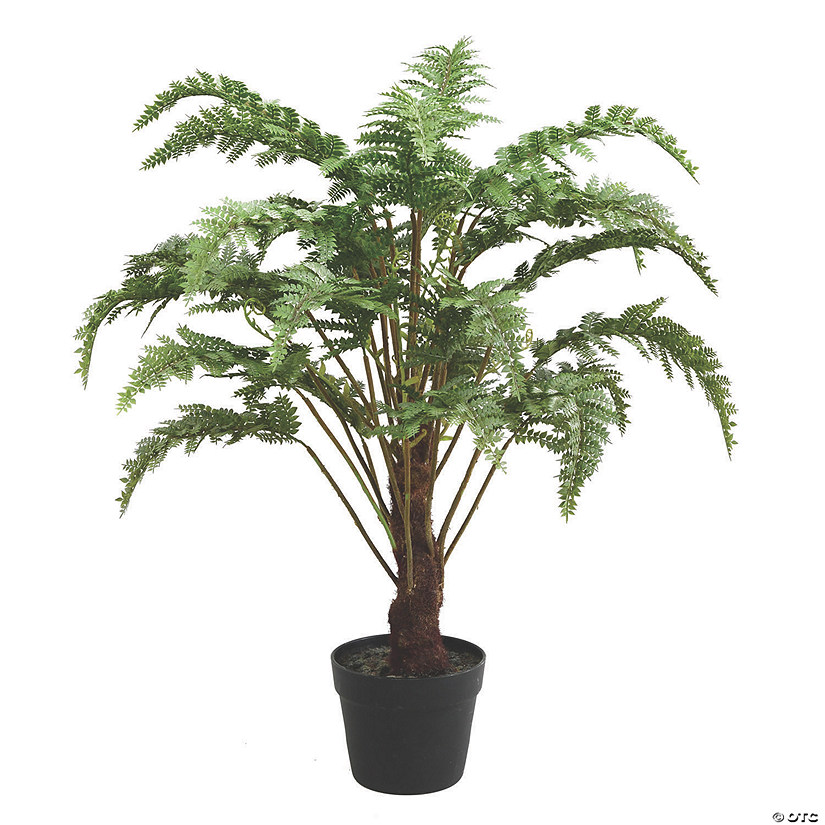 "Vickerman 30"" Artificial Green Fern in Round Black Pot Audio Thumbnail"