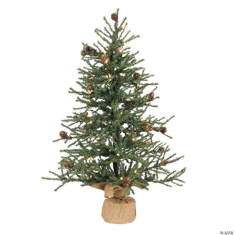 "Vickerman 30"" Carmel Pine Christmas Tree with Clear Lights Image Thumbnail"