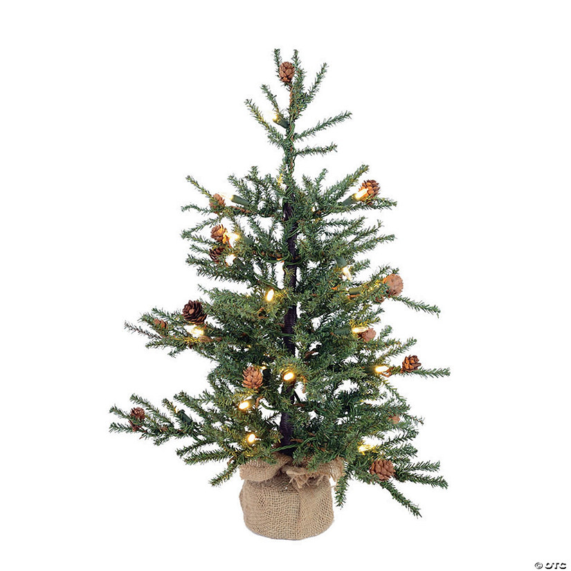 "Vickerman 30"" Carmel Pine Christmas Tree with Warm White LED Lights Image Thumbnail"