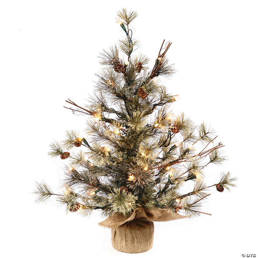 "Vickerman 36"" Dakota Pine Christmas Tree with Clear Lights Image Thumbnail"