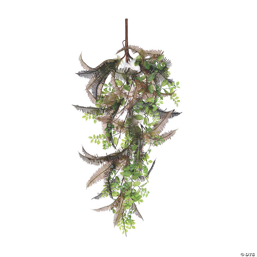 "Vickerman 36"" Green Fern Cotton Swag Audio Thumbnail"