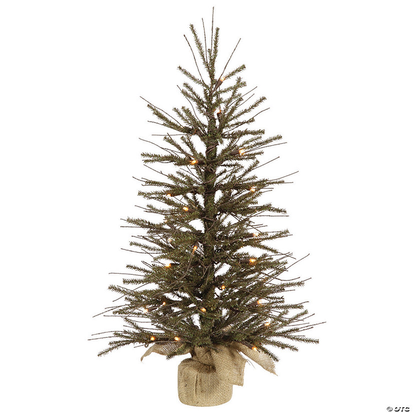 "Vickerman 36"" Vienna Twig Christmas Tree with Warm White LED Lights Image Thumbnail"