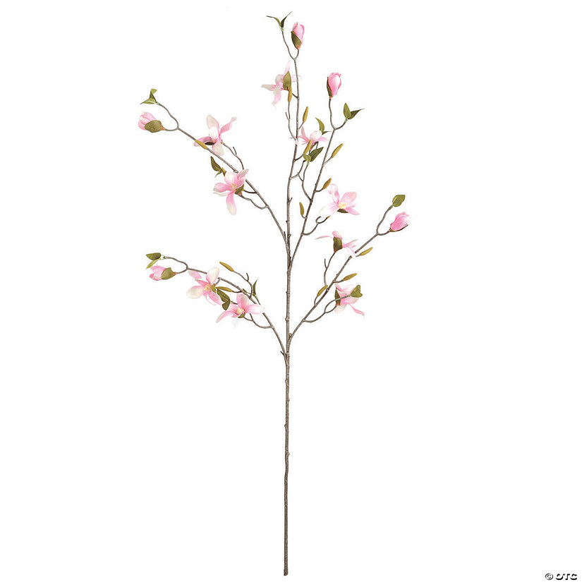 "Vickerman 39"" Artificial Mini Pink Magnolia Spray Audio Thumbnail"
