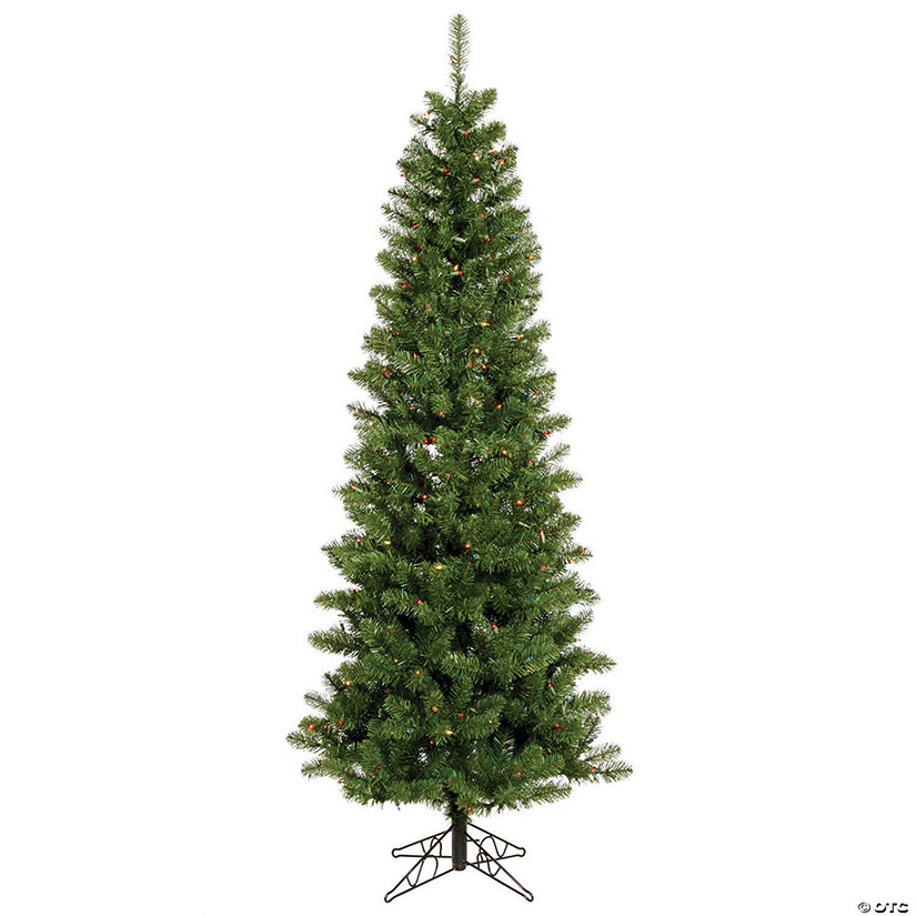 Vickerman 4.5' Salem Pencil Pine Christmas Tree with Clear Lights Image Thumbnail
