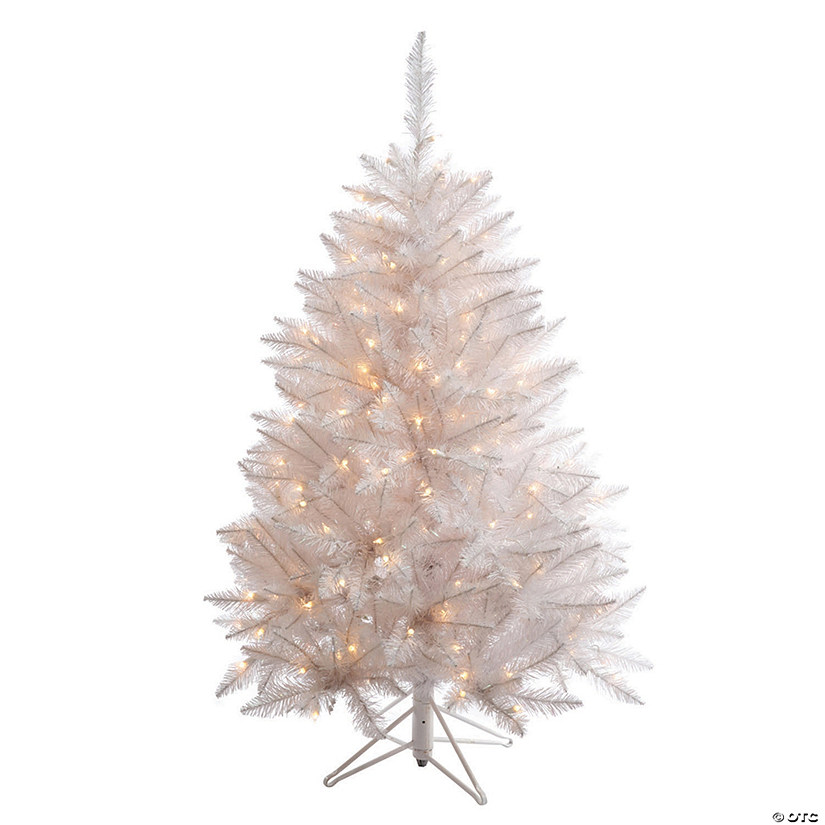 Vickerman 4.5' Sparkle White Spruce Christmas Tree with LED Lights Image Thumbnail