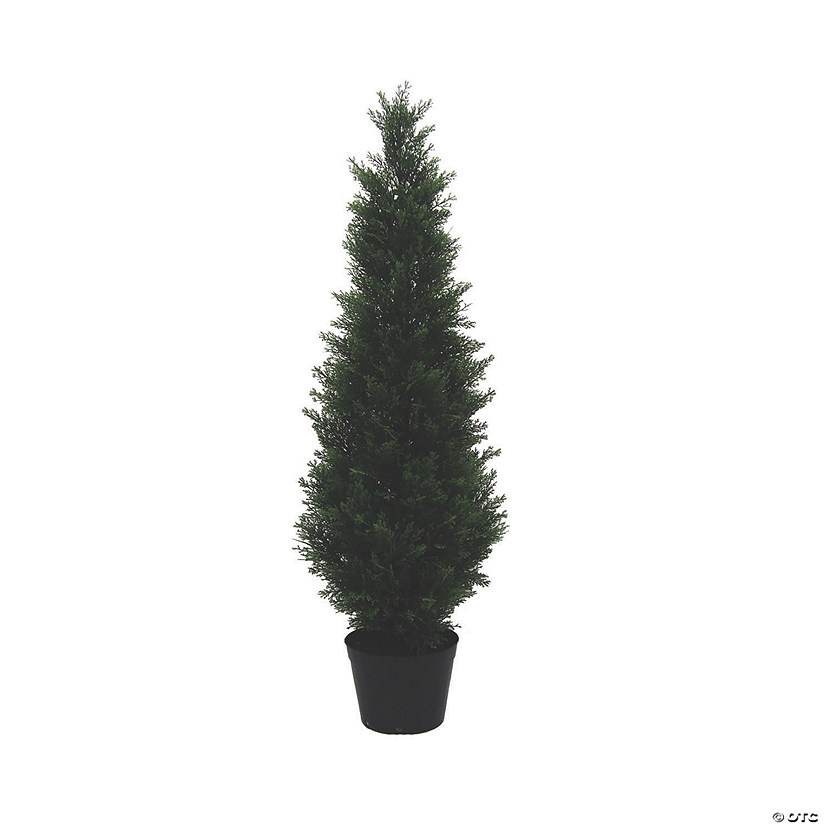 Vickerman 4' Artificial Potted Green Cedar Tree - UV Resistant Audio Thumbnail