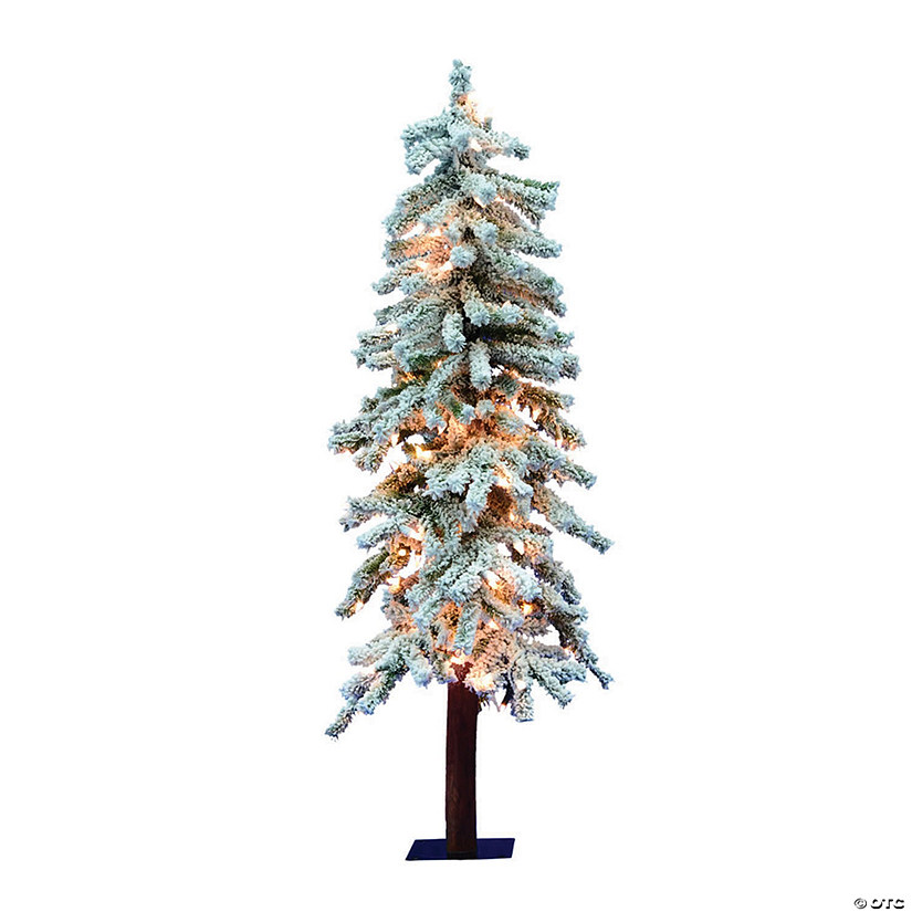 Vickerman 4' Flocked Alpine Christmas Tree with Clear Lights Audio Thumbnail
