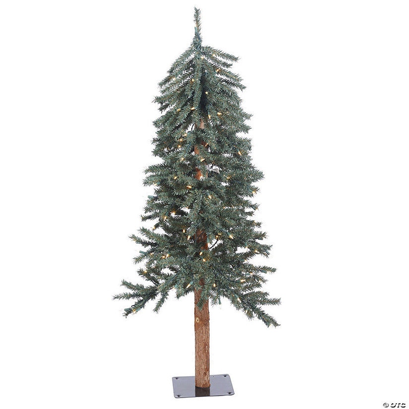 Vickerman 4' Natural Bark Alpine Christmas Tree with Clear Lights Image Thumbnail