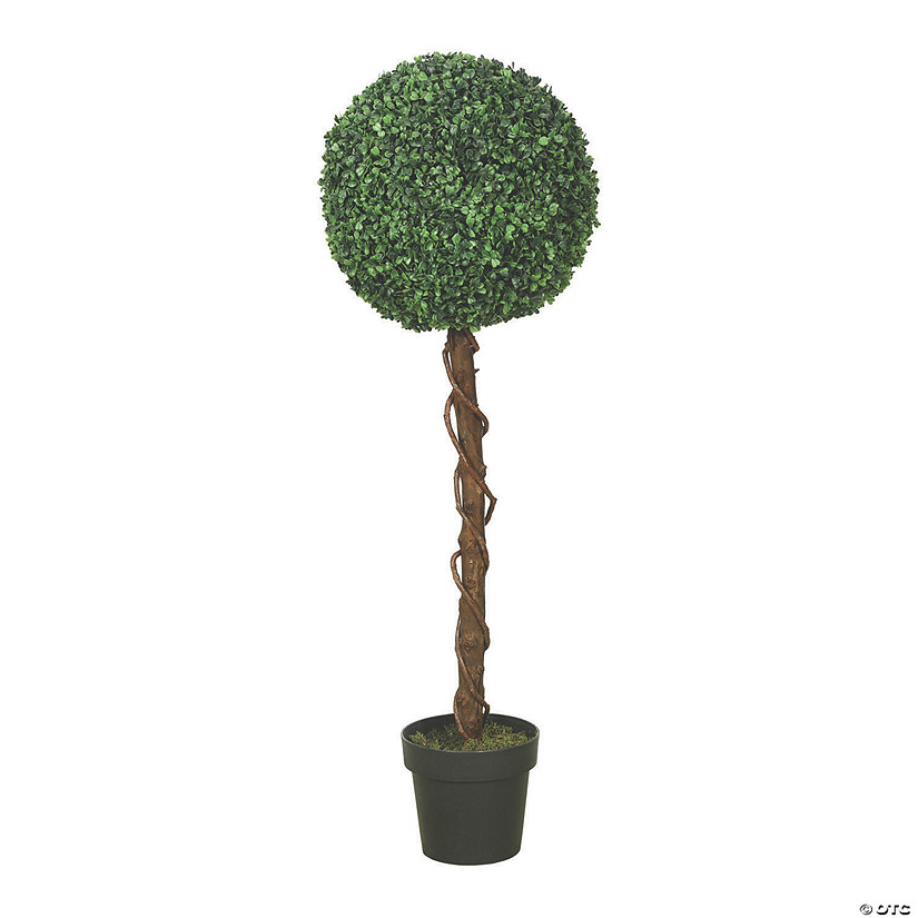 "Vickerman 44"" Artificial Green and Yellow Boxwood Topiary Audio Thumbnail"