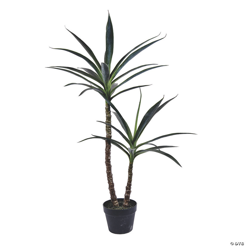 "Vickerman 44"" Green Yucca Tree in Black Plastic Planters Pot Audio Thumbnail"