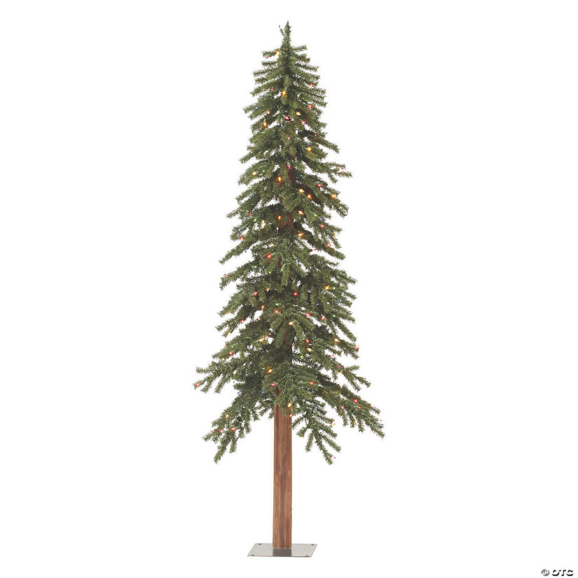 "Vickerman 5' x 28"" Natural Alpine Tree with 475 Tips and 150 Warm White Lights Image Thumbnail"