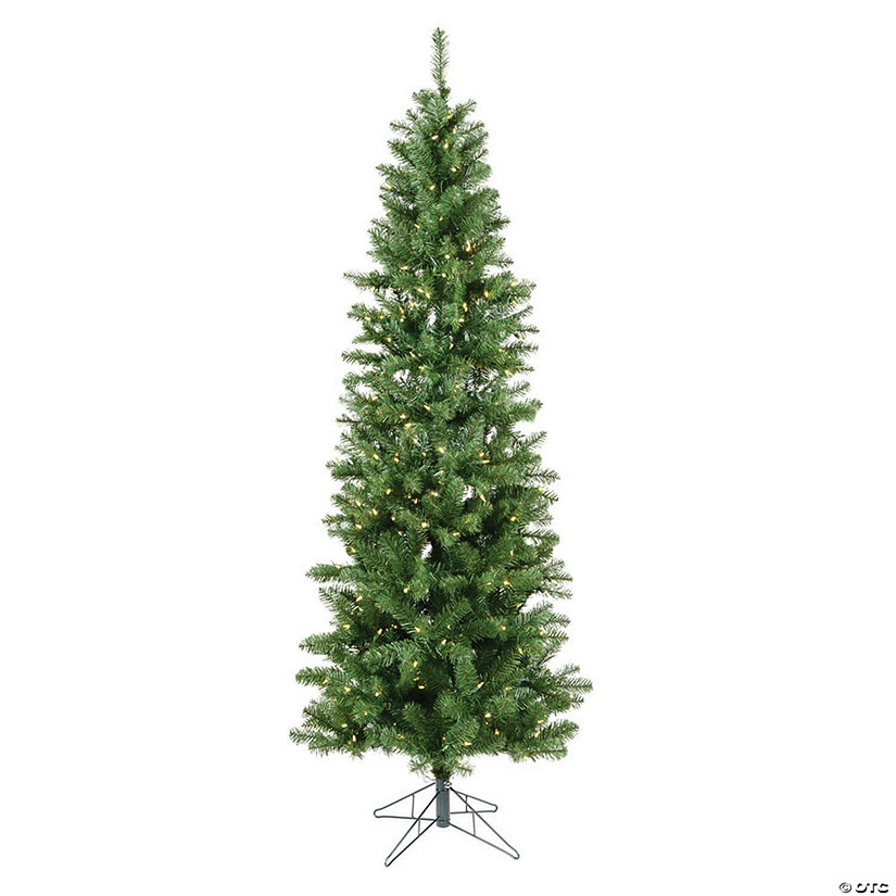 Vickerman 6.5' Salem Pencil Pine Christmas Tree with Warm White LED Lights Image Thumbnail