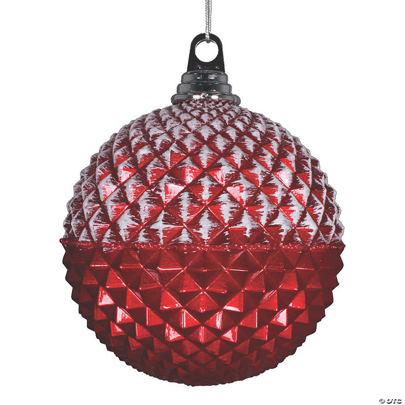 Vickerman 6 7 Red Glitter Candy Durian Ball Ornament 2 Bag Oriental Trading