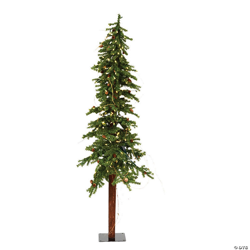 Vickerman 6' Alpine Christmas Tree with Warm White LED Lights Image Thumbnail