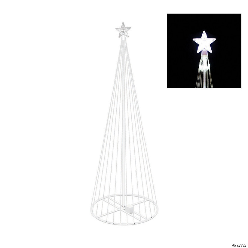 Vickerman 6' Christmas Show Tree with Cool White LED Lights Image Thumbnail