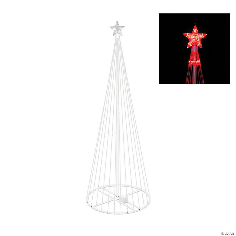 Vickerman 6' Christmas Show Tree with Red LED Lights Image Thumbnail
