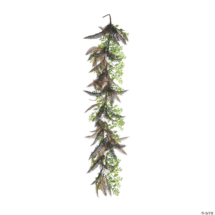 Vickerman 6' Green Fern Cotton Garland Audio Thumbnail