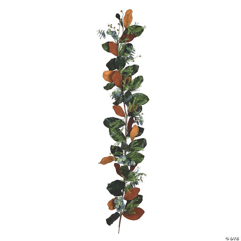 Vickerman 6' Green Magnolia Leaf Garland Audio Thumbnail