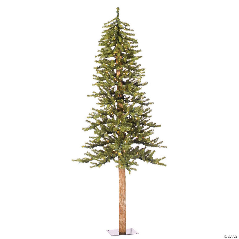 Vickerman 6' Natural Alpine Christmas Tree with Clear Lights Image Thumbnail