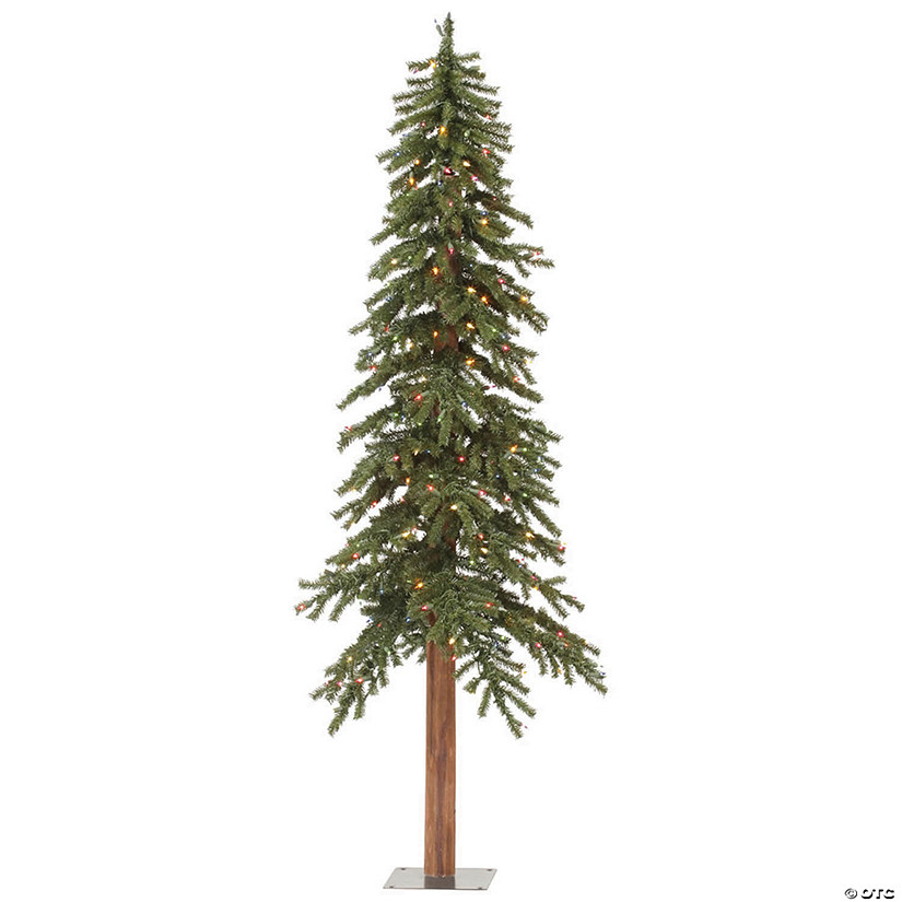 Vickerman 6' Natural Alpine Christmas Tree with Multi-Colored Lights Image Thumbnail