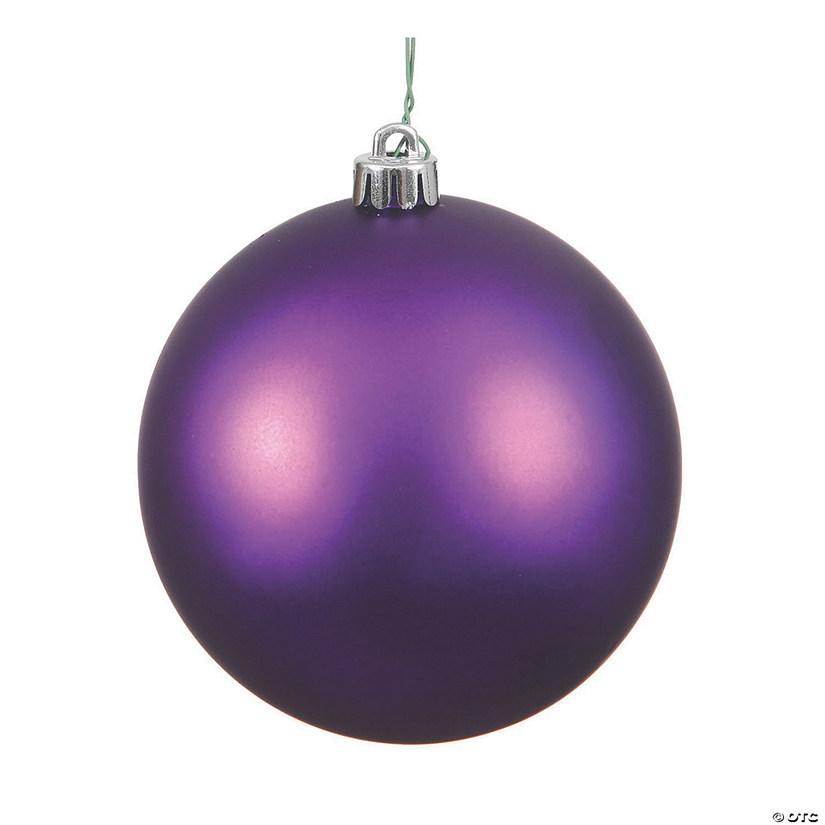"Vickerman 6"" Plum Matte Ball Christmas Ornament - 4/Bag   Oriental Trading"