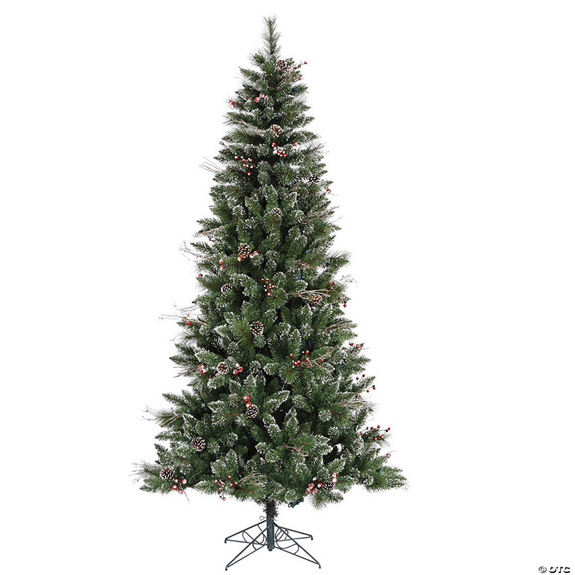 Vickerman 6' Snow Tipped Pine and Berry Christmas Tree - Unlit Image Thumbnail