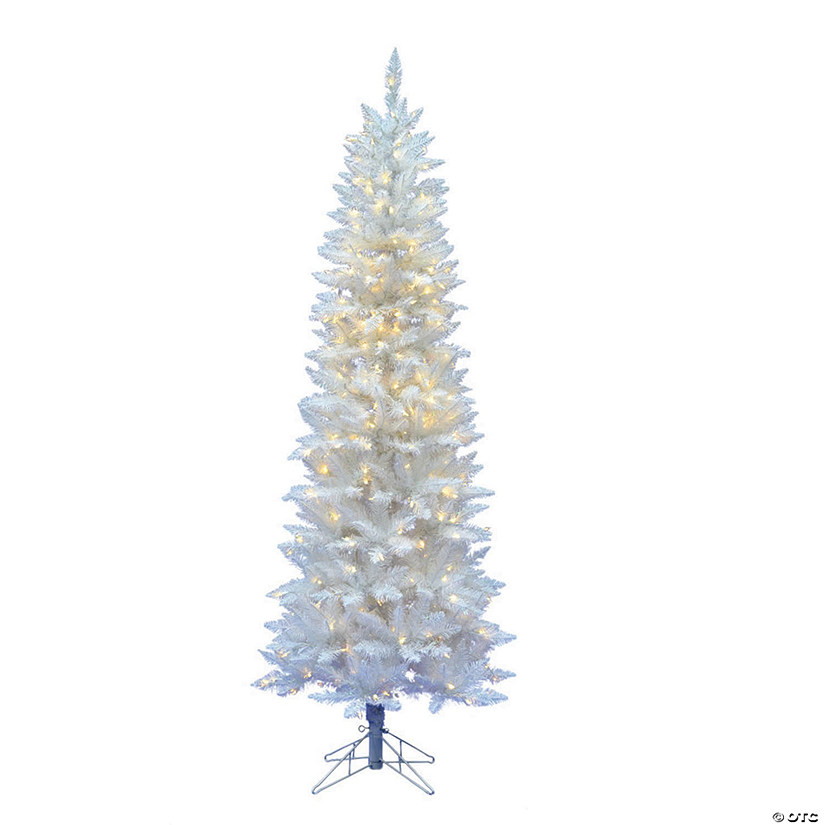Vickerman 6' Sparkle White Spruce Pencil Christmas Tree with Warm White LED Lights Image Thumbnail